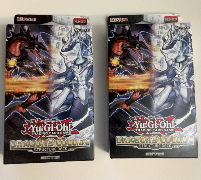 Yu Gi Oh! Dragons Collide Structure Deck UNL Edition  Brand New And Sealed Box!