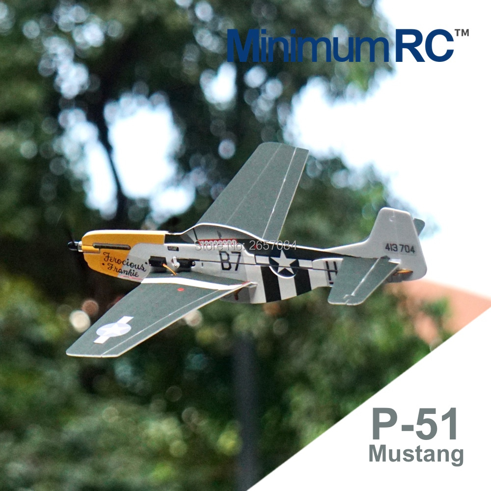 MinimumRC P-51 Mustang 360mm Wingspan 4 Channel Trainer Fixed-wing RC Airplane Outdoor Toys For Children Kids Gifts image