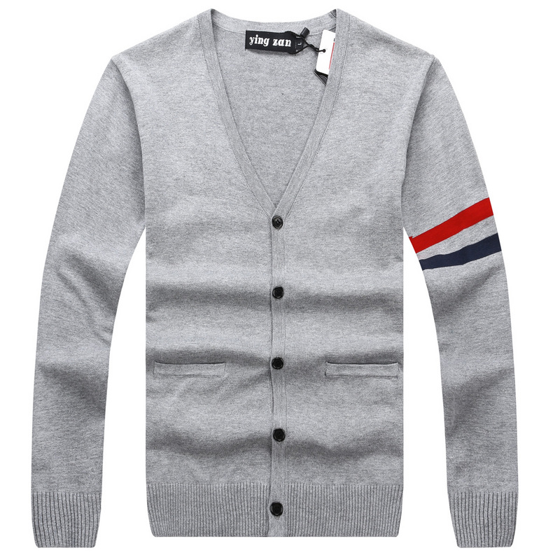 2019 Spring Mens Fashion Sweaters 100% Cotton Striped Blue Knitted Cardigan Knitting Brand Clothing Man's Knitwear Sweater coats(China)