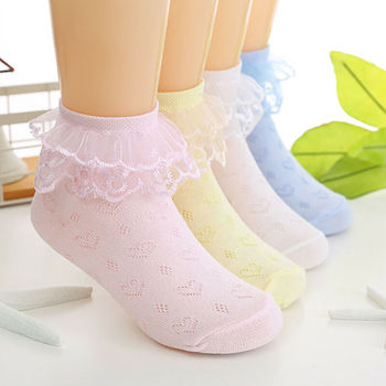 Toddlers Girls Lovely Lace Socks  1