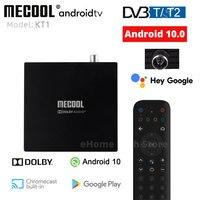 MECOOL KT1 Android TV 10 DVB Tuner Receiver DVB-T2 Amlogic S905X4 Set Top Box BT 4,2 WiFi 2,4G/5G LAN Dolby Decoder TV BOX