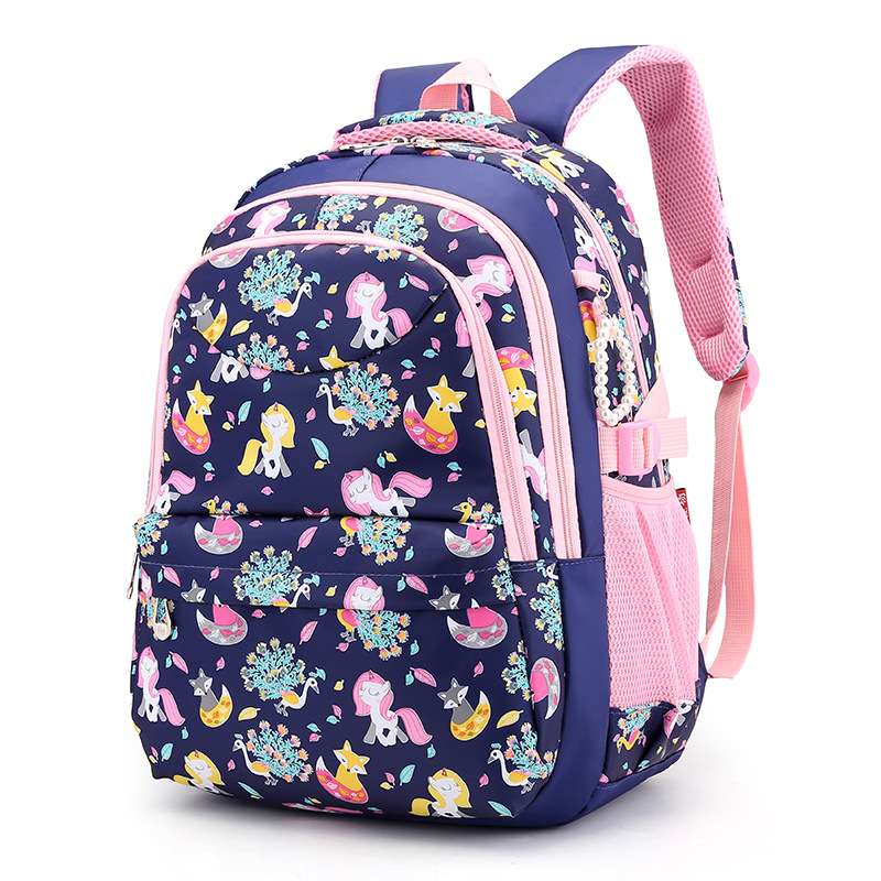 2019 New Large Schoolbag Student School Backpack Printed Waterproof Bagpack Primary School Book Bags For Teenage Girls Kids
