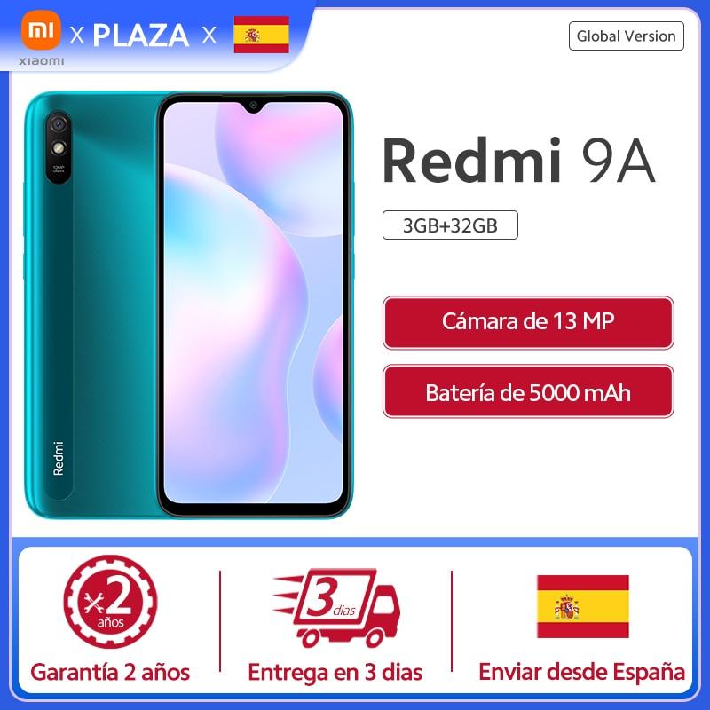 Xiaomi Smartphone Redmi 9A versión global, teléfono inteligente de 2GB y 32GB, batería de 5000mAh, MediaTek, Helio G25, pantalla HD de 6.53 pulgadas, cámara trasera IA de 13MP Teléfonos móviles  - AliExpress
