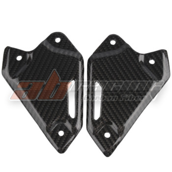 Rearset Foot Peg Mount Heel Guard Plate Cowling For Kawasaki Z900 /ABS 2017-2019 Full Carbon Fiber 100%  Twill
