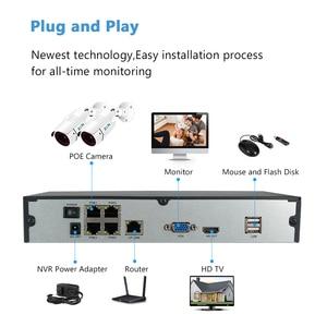 Image 4 - Zoohi H.265 3MP Sicherheit Kamera System Outdoor IR Nachtsicht CCTV Kamera System Kit POE Kamera IP66 Remote APP Verbinden