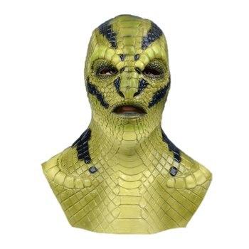 Basilisk Mask Devil Latex Cosplay Costume Props Masks Party Gift Prop Halloween Halloween Horror Mask Cosplay Props new halloween devil clown vampire mask yellow goblins mask halloween horror mask creepy costume party cosplay props