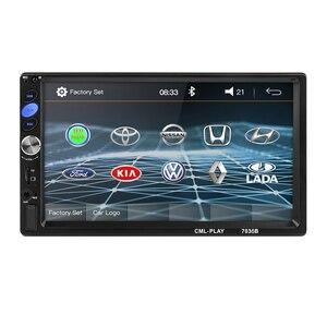 """Image 2 - 2 din Autoradio miroir lien Android 9.0 écran tactile affichage numérique 7 """"HD lecteur MP5 Bluetooth multimédia USB 2din Autoradio"""