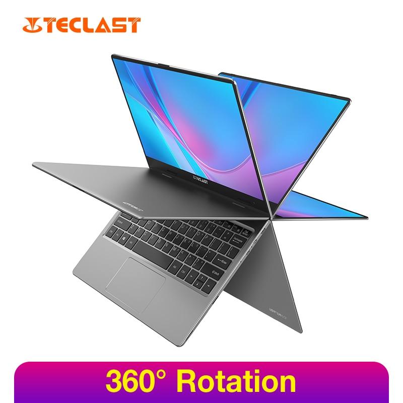 """Teclast f5 11.6 """"computador portátil da tela de toque 8 gb ddr4 256 gb ssd windows 10 computador portátil intel gemini lago fhd display rotação de 360 °"""