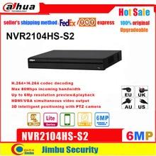 Dahua NVR Recording Onvif NVR2108HS-S2 To 6mp Up Compact 1u-Lite Bandwidth Incoming Max-80mbps