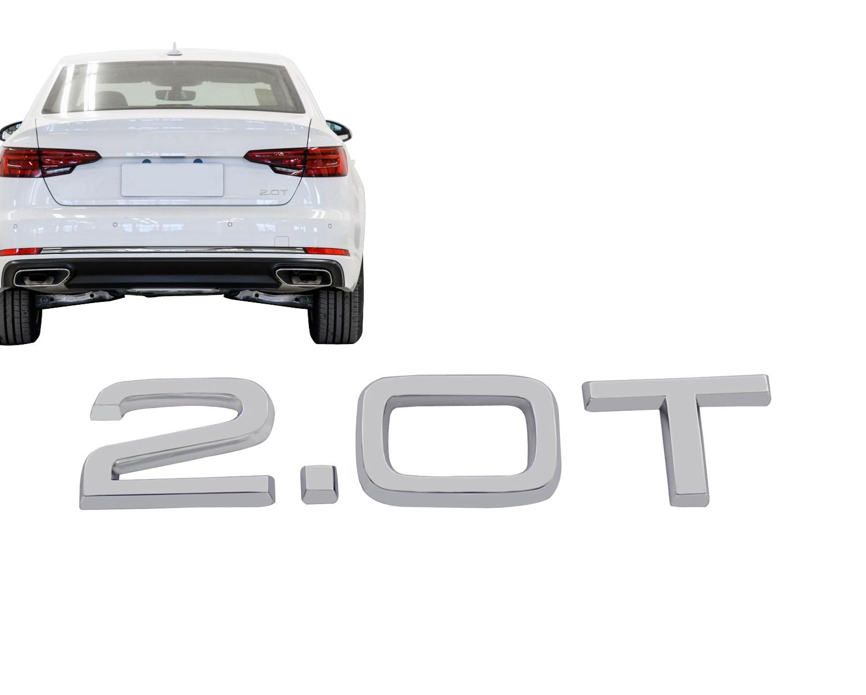 Хром 2,0 T 2,0 T для авто автомобиля крыло крышка багажника эмблема наклейка значок стикер