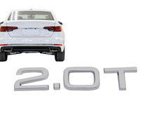 Chrome 2.0 t 2.0 t para carro auto fender tronco tampa emblema decalque emblema adesivo