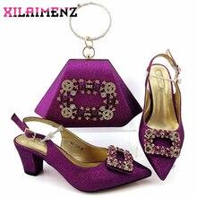 Chaussures et sac nigérians de conception spéciale africaine pour correspondre à des chaussures et des sacs de femmes italiennes de haute qualité pour la fête de mariage royale