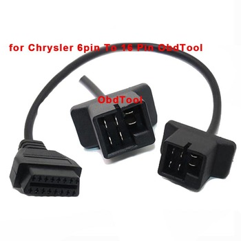 OBDTOOL For Chrysler 6pin To 16Pin Cable OBD II Diagnostic Interface 6Pin To OBD2 16 Pin Adapter Works For Auto Car Vehicles image
