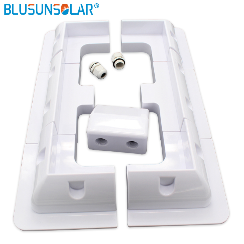 7PCS/SET UV Resistant Solar Panel ABS Mounting Kit White corner mount and side bracket for RV, Boat & Caravan