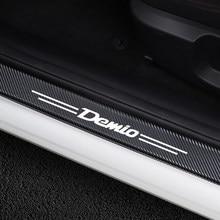 4 шт. Автомобильная Накладка на порог двери панель шаг из углеродного волокна протектор наклейки для Mazda Demio Авто порог двери аксессуары