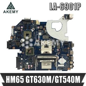 P5WE0 LA-6901P motherboard for acer 5750 5750G 5755 5755G laptop motherboard HM65 GT630M/GT540M original Test motherboard