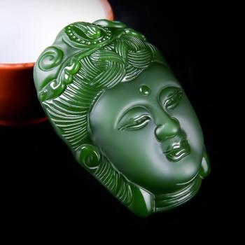 Natural jades jadeite Hetian jadees Guanyin pendants Jasper pendants Guanyin head pendants lucky talisman