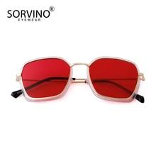 SORVINO 2020 Fashion Square Sunglasses Ocean Piece Metal Fra
