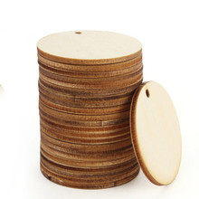 Hangers Scrapbooking Holiday-Decorations Natural-Wood Household 24pcsdiy Round Many-Size