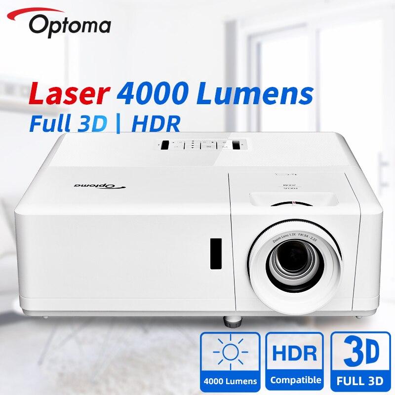 Лазерный проектор Optoma Blu-Ray 3D проектор для работы домашнего кинотеатра 1080P FULL HD совместимый 4K HDR проектор для кинотеатра