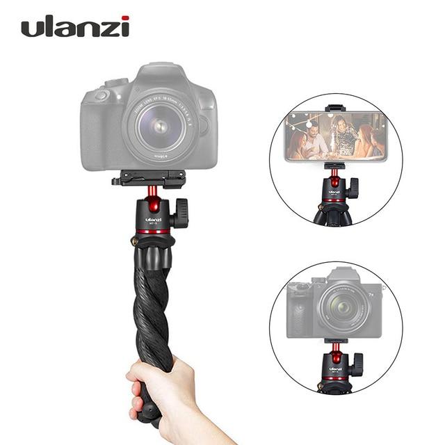 "ulanzi Flexible Octopus Tripod Stand 1/4""+Ballhead Mini Tripod for Smartphone DSLR SLR Camera for Live Streaming Video Recording"