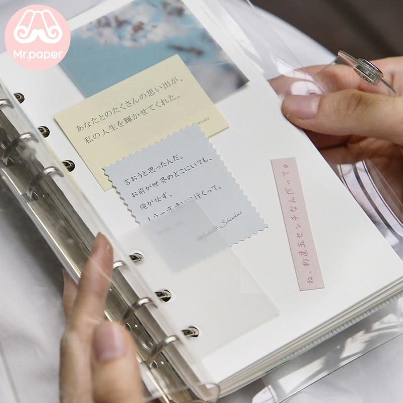 Mr.paper 30pcs/lot Instagram Style Butter Paper Kraft Card Journaling Bullet Scrapbooking Material Paper Fresh Words LOMO Cards 6