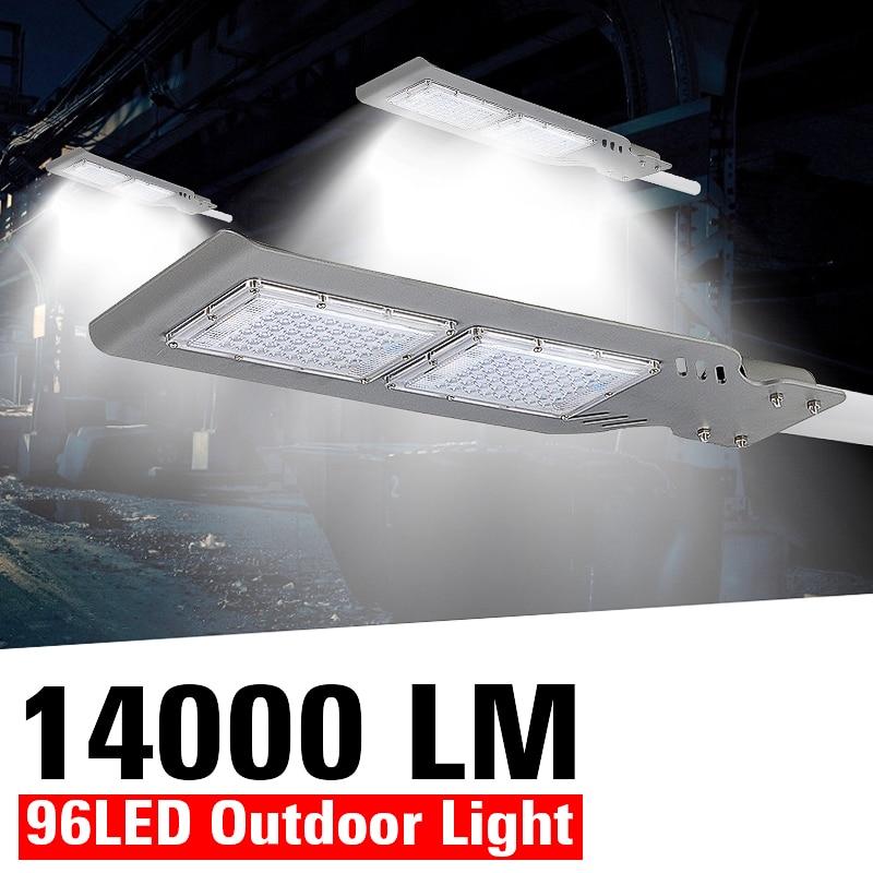 AUGIENB 14000 Lumen 100/200W Waterproof IP65 48/96 LED Street Light Outdoor Garden Yard Wall Highway Parking Lot Lighting Lamp
