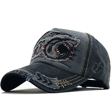 New Cotton Men baseball cap for women snapback hat Shark emb