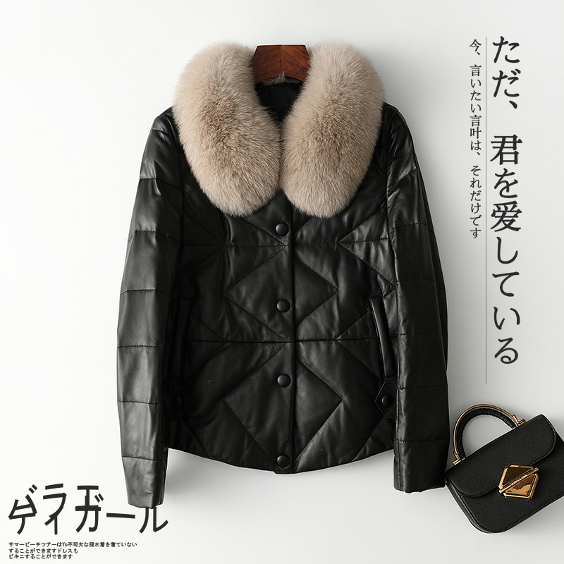 Winter Genuine Leather Jacket Women Clothes 2020 Vintage Duck Down Coat + Real Fox Collar Warm Chaqueta Mujer Hiver 2093