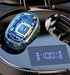 Image 4 - Tws אלחוטי Bluetooth אוזניות אוזניות רעש ביטול טעינת תיבת ספורט עמיד למים Bluetooth 5.1 אוזניות עבור כל טלפון