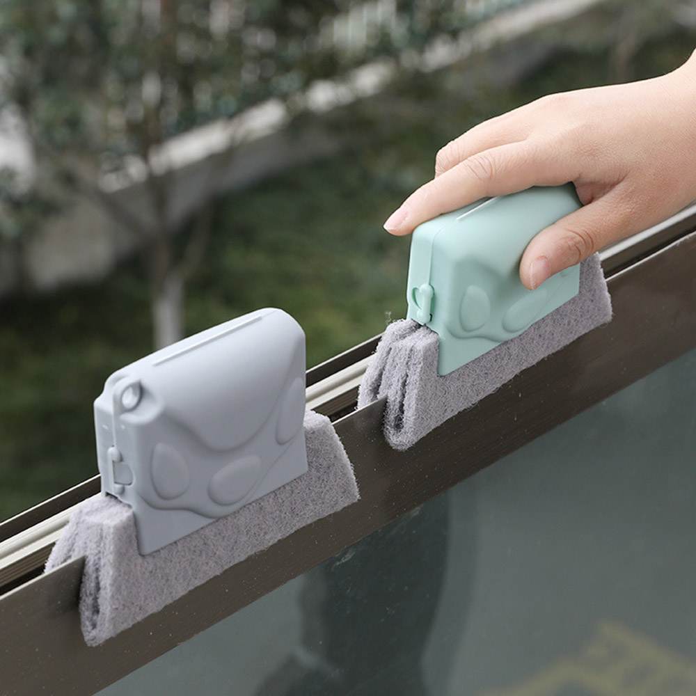 Cleaning Brush Creative Groove Window Useful Washable Blade Air Conditioner Dust Cleaner Microfiber