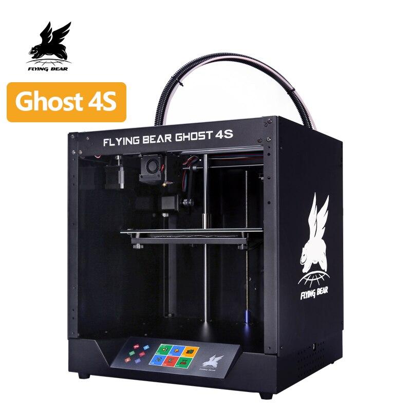 Frete grátis 2019 popular Flyingbear-Ghost4S moldura de metal completo impressora 3d kit diy com tela sensível ao toque a cores