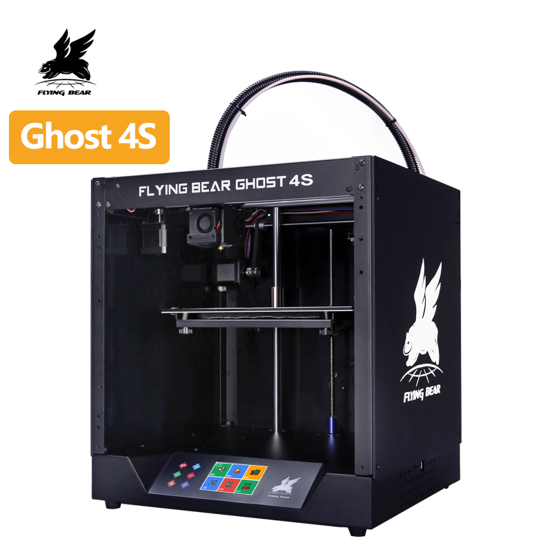 Free Shipping 2019 Popular Flyingbear-Ghost4S 3d Printer Full Metal Frame 3d Printer Diy Kit With Color Touchscreen