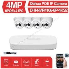 Dahua 4MP 8+4 Security Camera System 4MP IP Camera IPC-HDW4433C-A 8CH POE NVR4108-8P-4KS2 Surveillance P2P System Remote View original dahua 4mp ipc hdbw4421r as ip network camera support poe