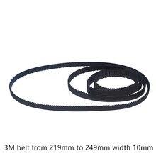 HTD 3M Ремень ГРМ длина от 219 мм до 249 мм ширина 10 мм Резина HTD 3M синхронный 219-3M 249-3M замкнутый контур