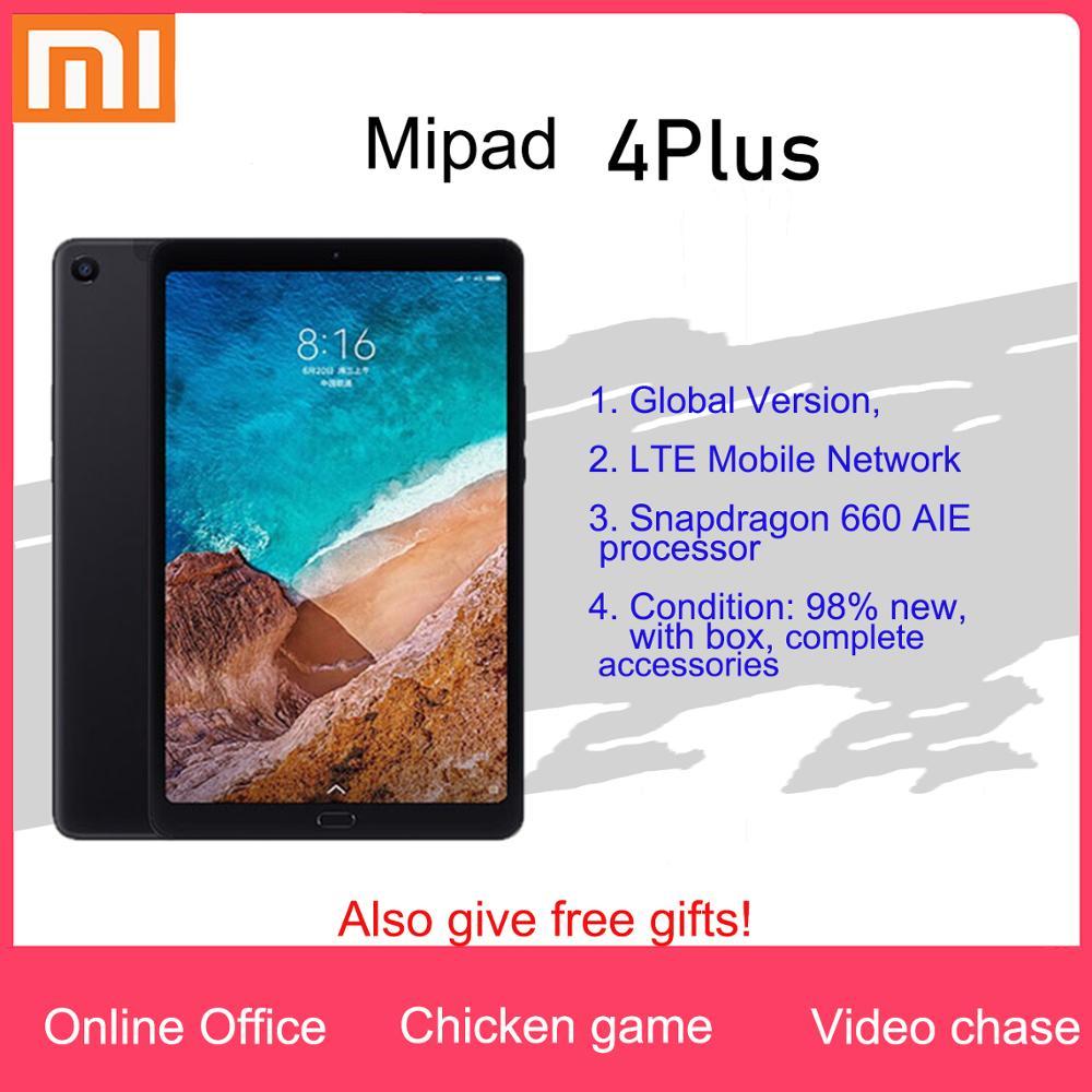 Xiaomi tablet 4plus tablet android lte versão completa netcom preto 10.1 Polegada 4 + 64g 98% novo (não pode chamar)