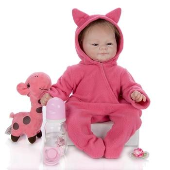 43cm mini Reborn Doll 1.65kg 3/4 Silicone Reborn Baby Doll Toy Lifelike Newborn Babies Dolls Funny Christmas present For Kids