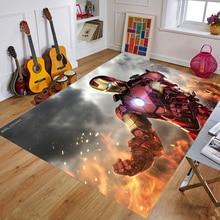 Cartoon Baby Playmat The Avengers Marvel Iron Man Kids Rug Carpet Floor Bedroom Doormat Non-slip Mat  Birthday Gift