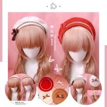 Hair-Ball Cosplay Handmade LOLITA Japanese Girl Kawaii Mori Beret Bud-Hat Biscuits Bow