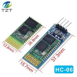 Image 1 - HC06 HC 06 sans fil série 4 broches Bluetooth RF émetteur récepteur Module RS232 TTL pour Arduino bluetooth module