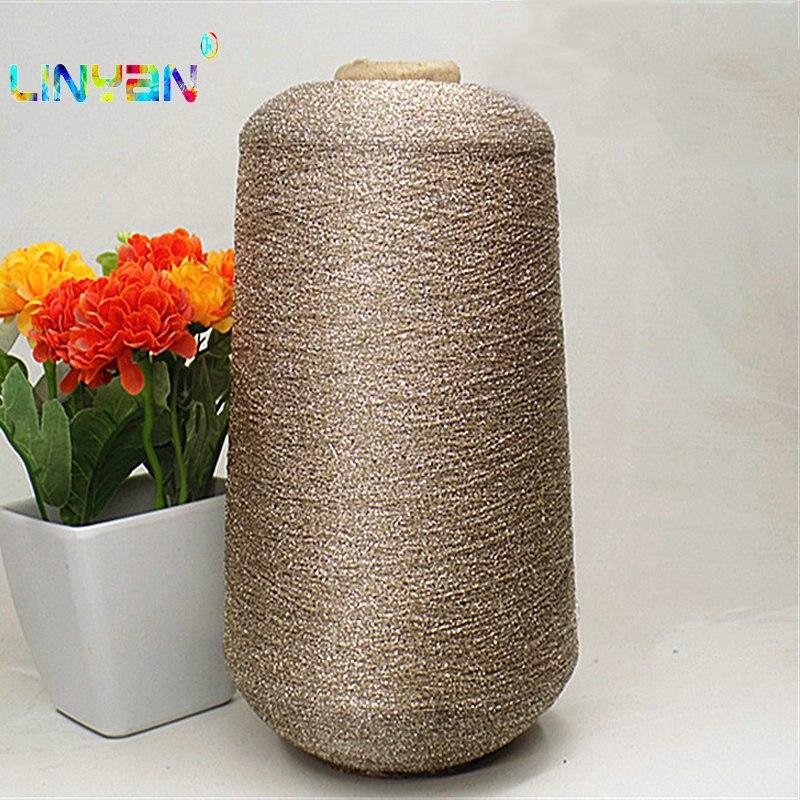 1 Pieces*250g Golden Silk Embroidery Thread Summer Style Sewing Thread Yarn For Knitting Wool For Crochet Machine Knit Yarn T50