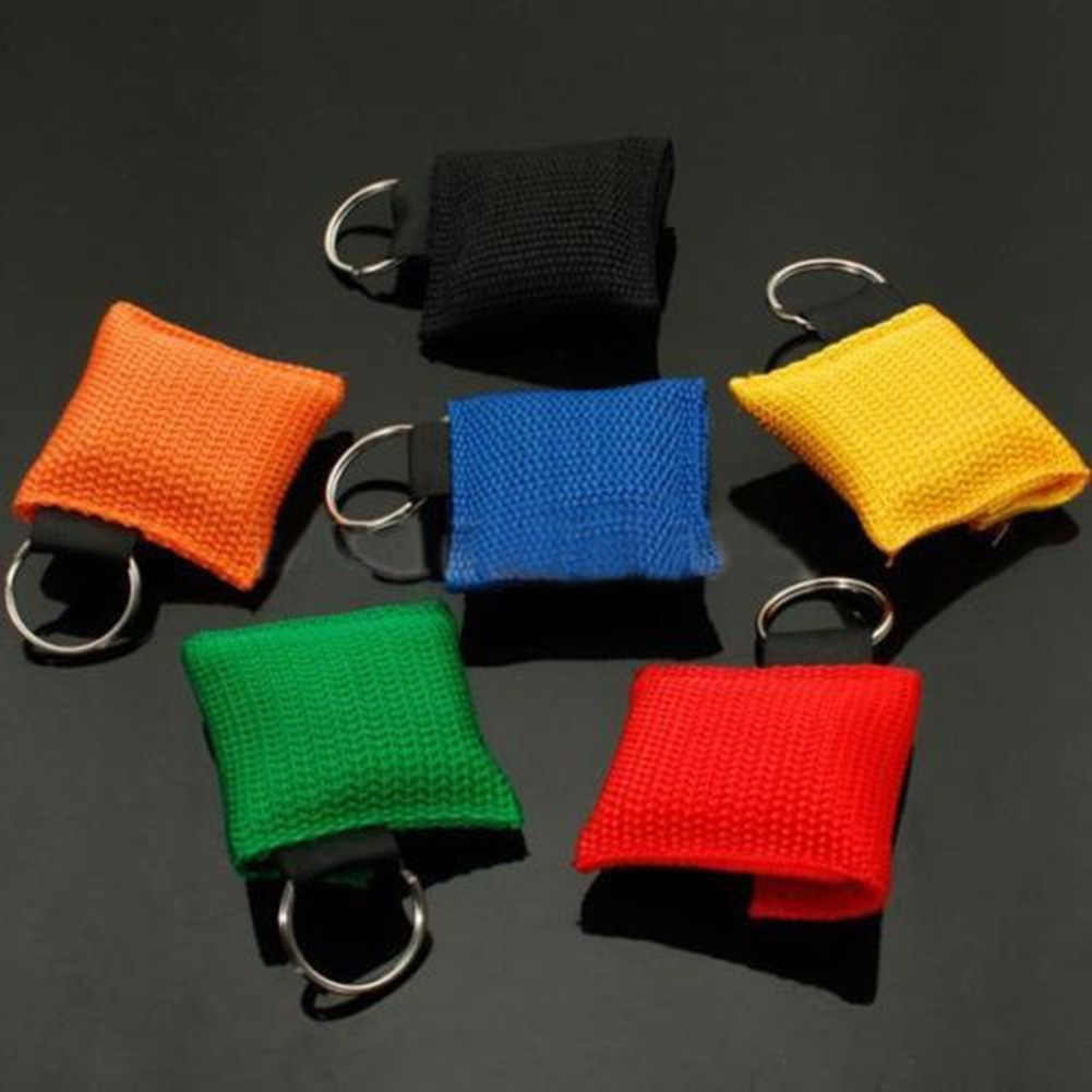 Portable CPR Mask Keychain Safty Emergency Face First Aid Rescue Bag