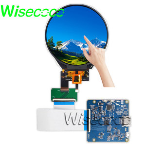 wisecoco 3.4 inch round tft lcd capacitive touch screen Circular IPS lcds panel 800x800 HDMI to MIPI Driver Board Raspberry Pi
