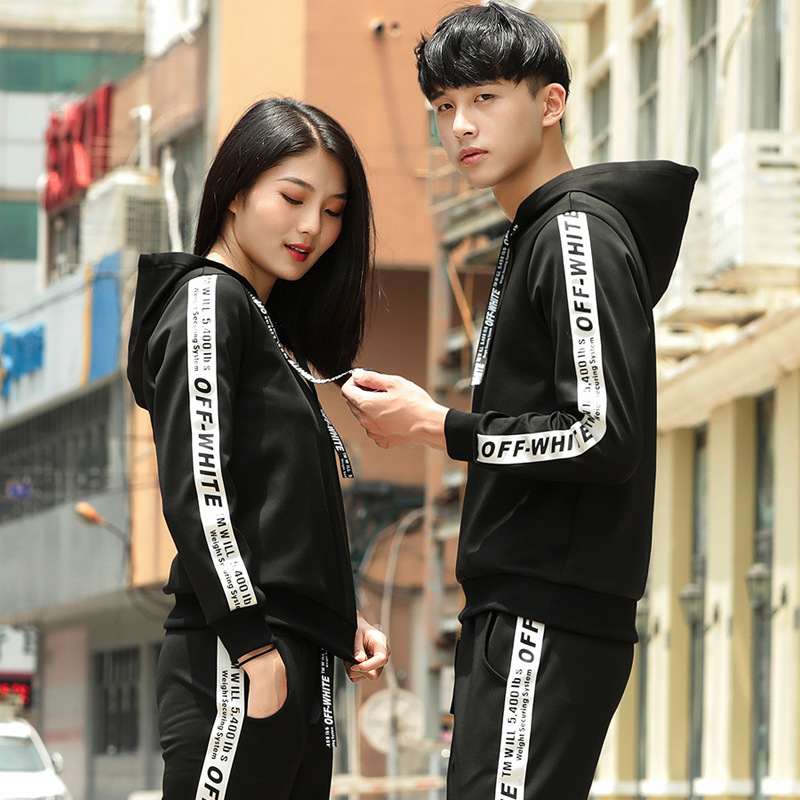 Spring And Autumn New Style Sports Set Couples Pullover Hoodie Two-Piece Set Japanese-style Popular Brand Versatile Breathable S