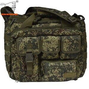 Rosja kamuflaż wojskowy tactical torba wielofunkcyjna torba 14 cal EDC taktyczne torba na laptopa wojskowy krzyż-torebka zakres torba