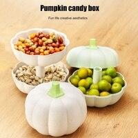 Тыквенная Фруктовая тарелка для закуски коробка для конфет с крышкой сушеный домашний журнальный столик для гостиной семена дыни фруктова...