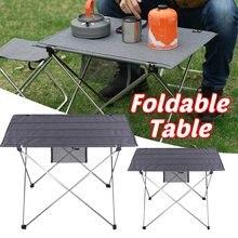 Table pliante Portable en alliage d'aluminium, mobilier d'extérieur, Camping, pique-nique, bureau de jardin Ultra léger, 6061