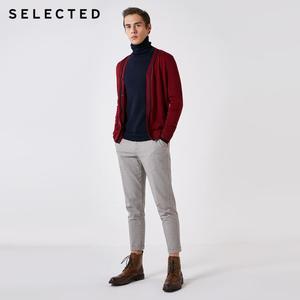 Image 2 - 選択100% ウール長袖カーディガンプルオーバーのセーターの男性のニット服t