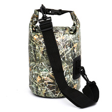 Large Capacity Waterproof Backpack Camouflage Dry Bag Portable Drifting Outdoor Storage Supplies Adjustable Strap