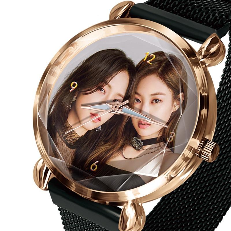 Women Watch magnet Lovers Bracelet Watches Diy Can 1 piece Custom You Photo LOGO Picture Clock Machining Hour Drop Shipping Gift(China)